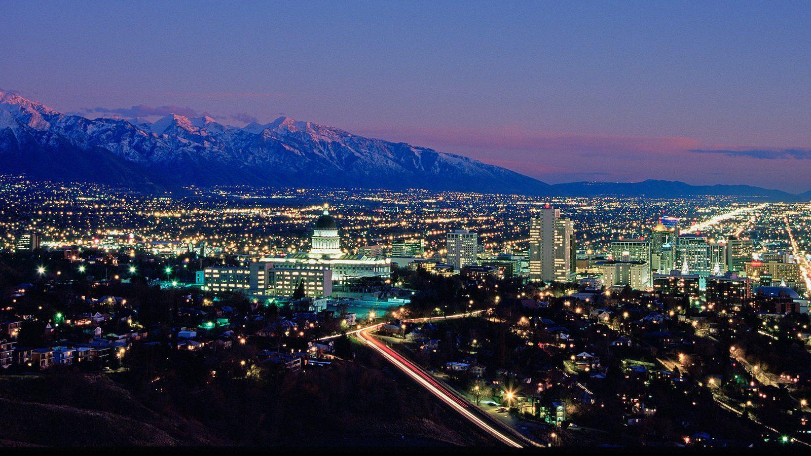 Over Salt Lake City